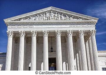 cour suprême, capitole, washington dc, journée, nous, ...