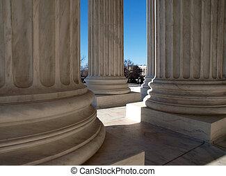cour suprême, colonnes