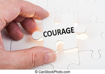 Courage concept