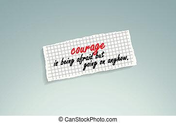 courage, effrayé, être, mais, aller, anyhow