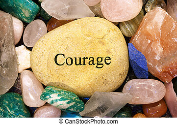 Courage Stone - healing stones with one rock that reads...