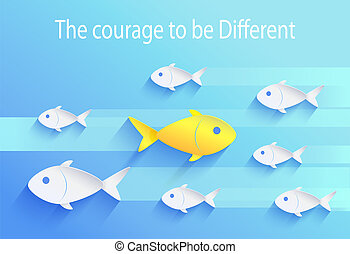 Courage to Be Different, Risk Taker Fish Icon - Courage to...