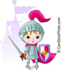 courageux, chevalier