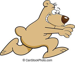 courant, dessin animé, ours
