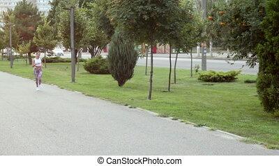 courant, femme, parc