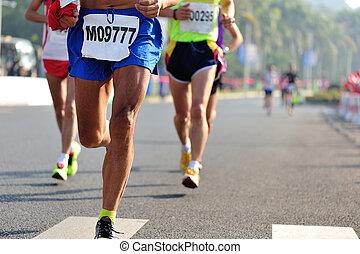 courant, marathon, course