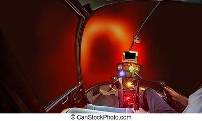 courant, vaisseau spatial, intérieur, trou noir