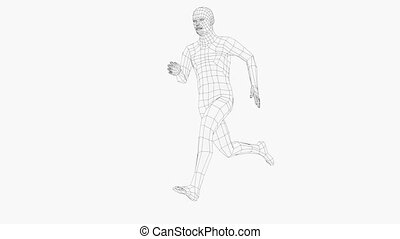 courant, wireframe, homme, seamless