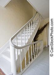 courbé, escalier, rampe
