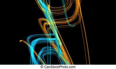 courbé, lignes, coloré
