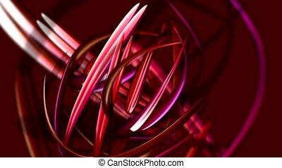 courbé, lignes, rouges