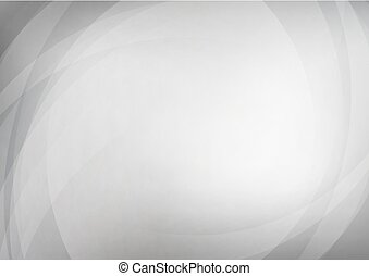 courbé, résumé, arrière-plan gris