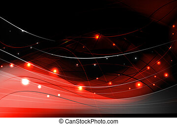 courbé, résumé, arrière-plan rouge