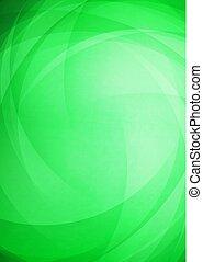 courbé, résumé, arrière-plan vert