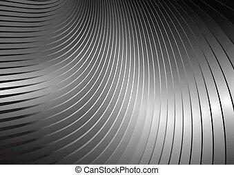 courbé, vecteur, lignes