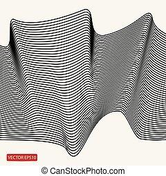 courbe, arrière-plan., perspective, avoir, signification, composition