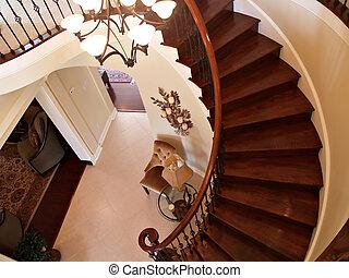 courber, escalier