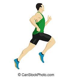Coureur sportif dessin anim illustration formation illustration vectorielle - Coureur dessin ...