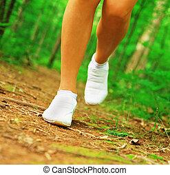 coureur, jambes