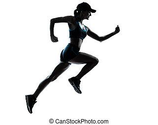 coureur, joggeur, femme