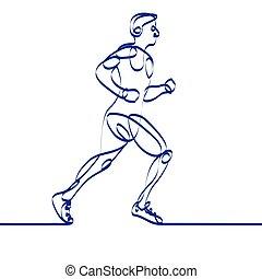 Silhouette coureur symbole vecteur ligne marathon vecteur eps rechercher des clip art - Coureur dessin ...