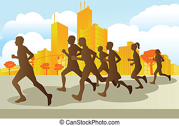 coureurs marathon