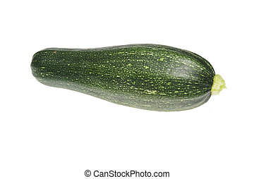 Courgette isolated on a white background