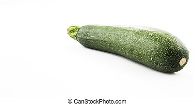 Courgette isolated on white background