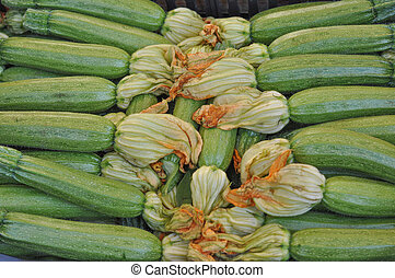 Courgettes zucchini - Courgettes or zucchini vegetables...