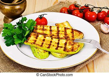 Courgettes Zucchini Grill