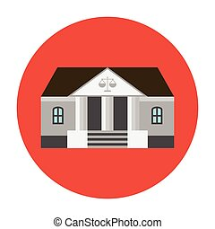 Courhouse icon flat - Courthouse icon flat. Bank or ...