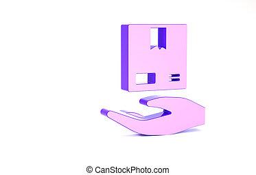 courier., 3d, minimalisme, main, boîtes, porte, blanc, ...