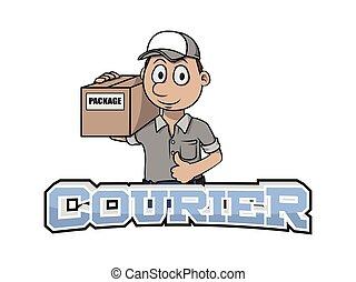 courier banner illustration design