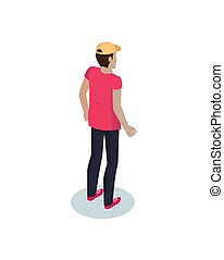Courier Delivery Man Icon Vector Illustration