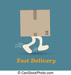 Courier delivery man symbol