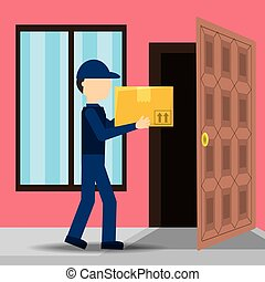 courier delivery with box package service