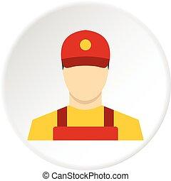 Courier icon circle