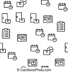 Courier Post Vector Seamless Pattern