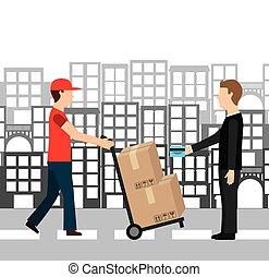 courier service worldwide design, vector illustration eps10 ...