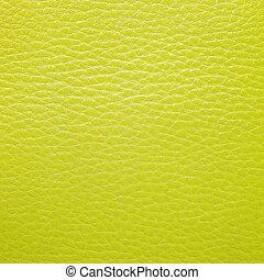 couro, amarela, textura, fundo