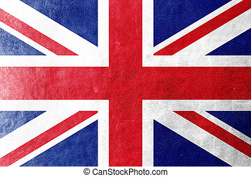 couro, bandeira, reino unido, textura