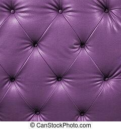 couro, cima, buttoned, pretas, luxo, violeta, fim