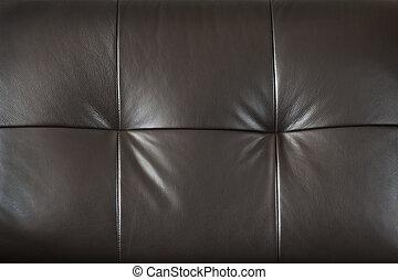 couro, closeup, mobília