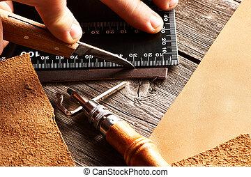 couro, crafting, ferramentas