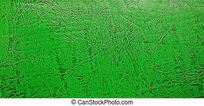 couro, experiência verde, etiqueta