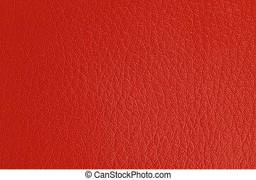couro, experiência vermelha, textura, artificial