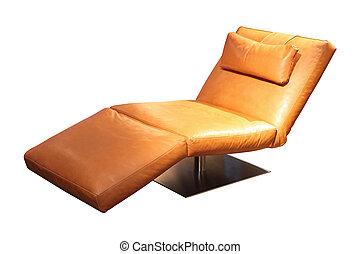couro, longue chaise