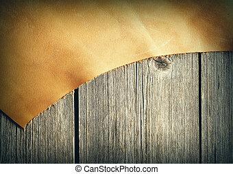 couro, madeira, sobre, pedaço