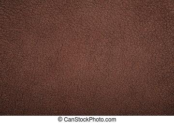 couro, marrom, camurça, textura