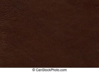 couro, marrom, textura